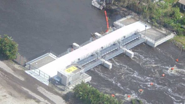 SFWMD Big Cypress Basin pump station following Irma