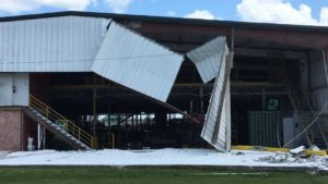 Packinghouse damage from Irma at SWFREC in Immokalee