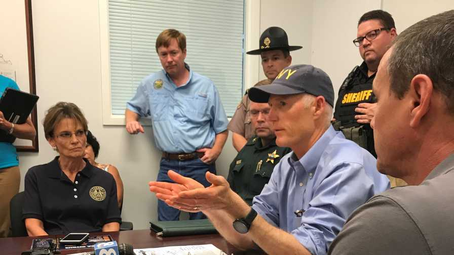 Florida Gov. Rick Scott talks with states ag leaders about post-Irma procedures