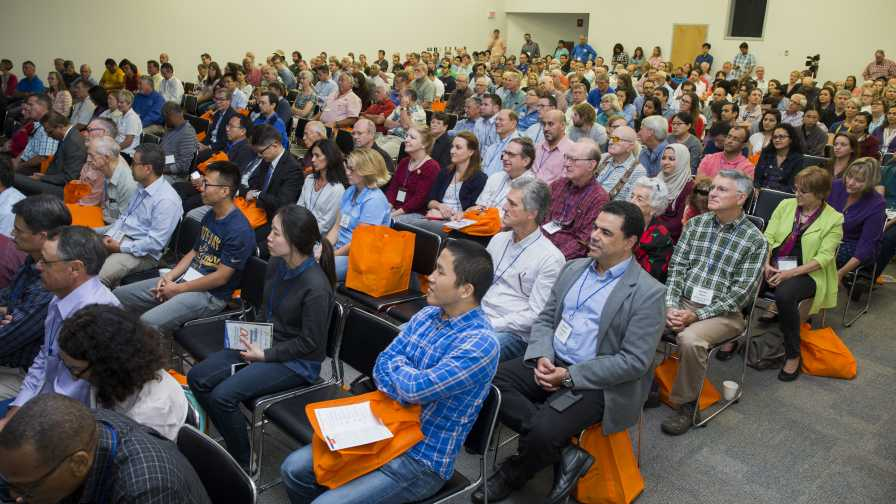 Crowd at the opening of Citrus Research and Education Center's 100th anniversary event