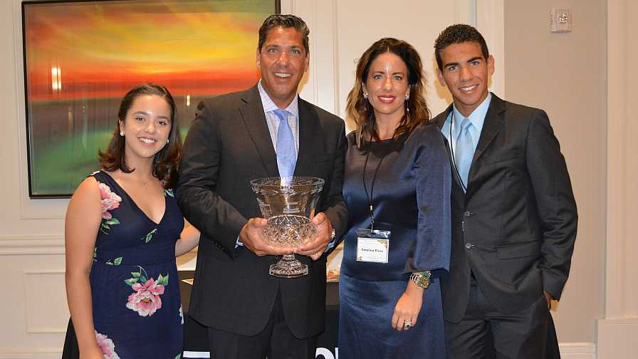 Ed Pines and his family accept Florida Grower's 2017 Citrus Achievement Award
