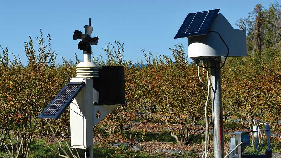 weather stations at Florida Blue Farms