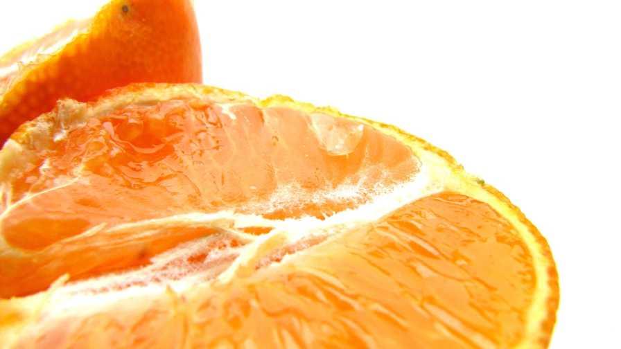 orange fruit interior closeup