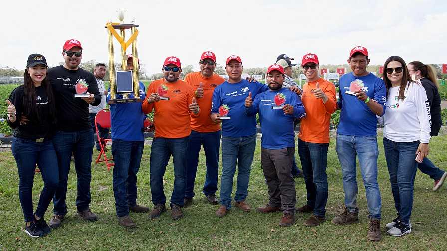 2018 Florida Strawberry Picking Challenge Winners