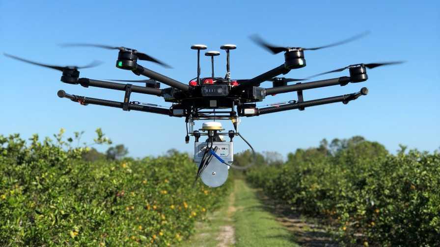 UAV with LiDAR camera