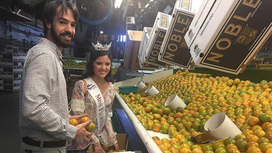 Miss Florida Citrus 2018 on packinghouse tour