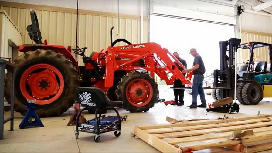 Farm tractor maintenance